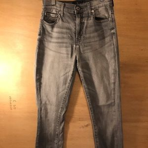 Lucky Brand Jeans Cigarette Gray Ankle Skinny